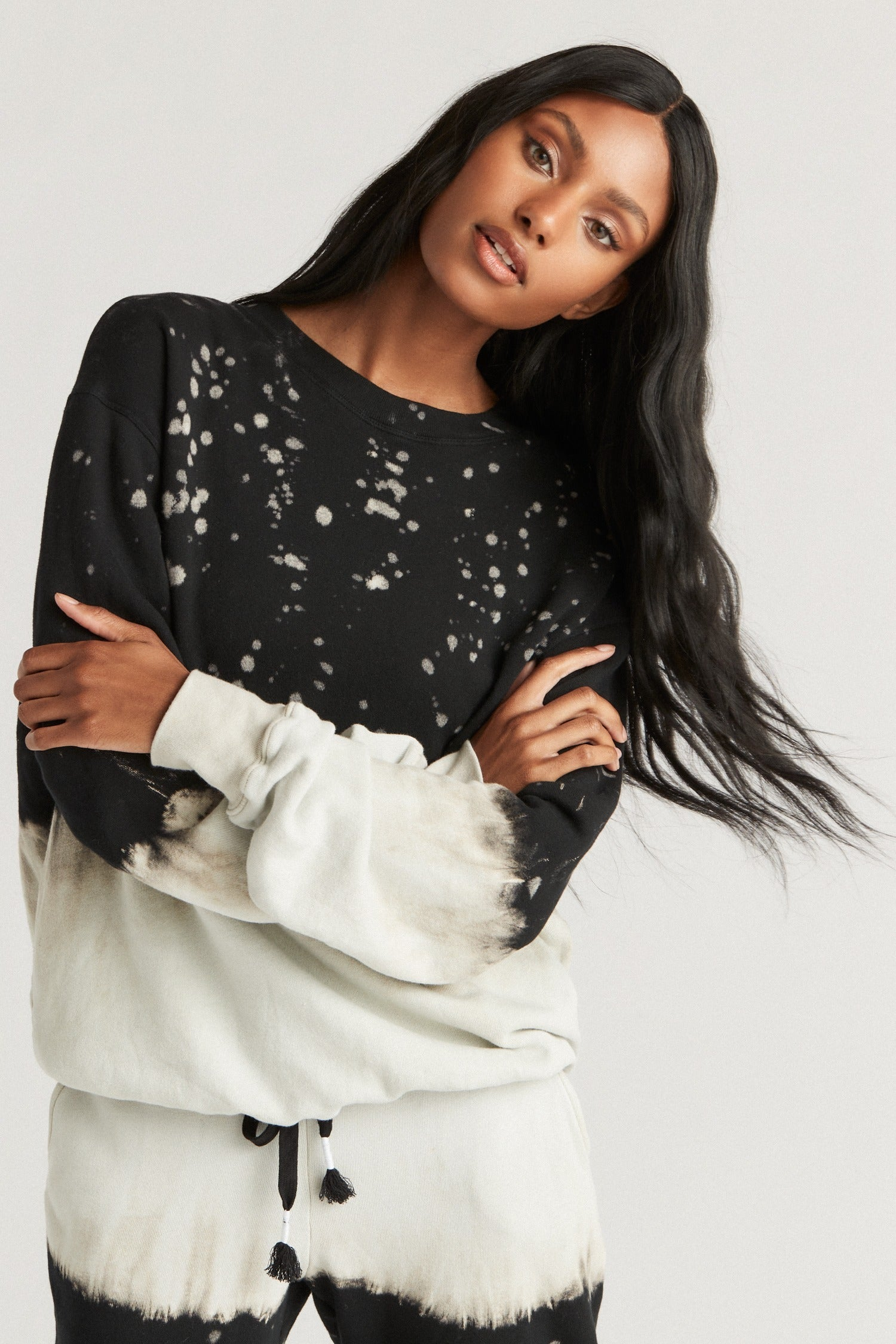 MASON SWEATSHIRT- MIDNIGHT SPLATTER