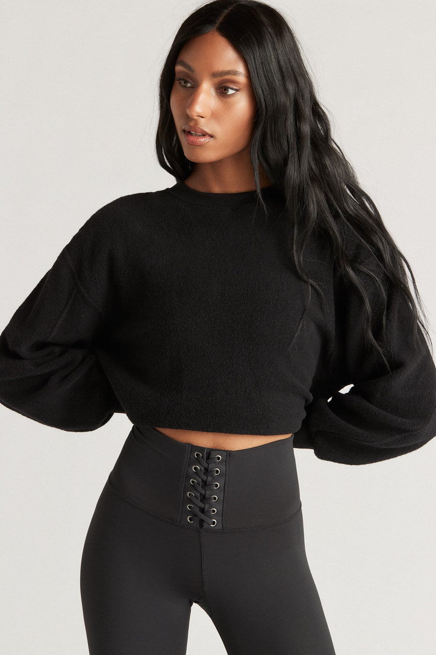 SONOMA SWEATSHIRT INSIDE OUT- BLACK
