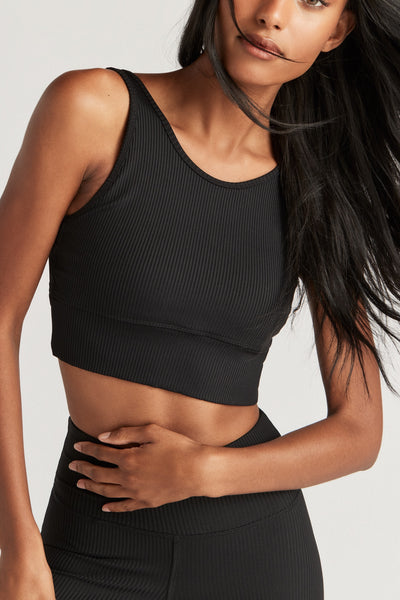 PIPER BRA - BLACK RIB
