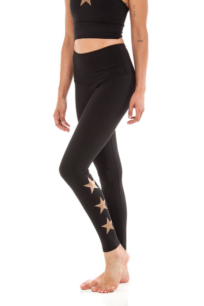 STAR ANKLE - BLACK/COPPER STAR