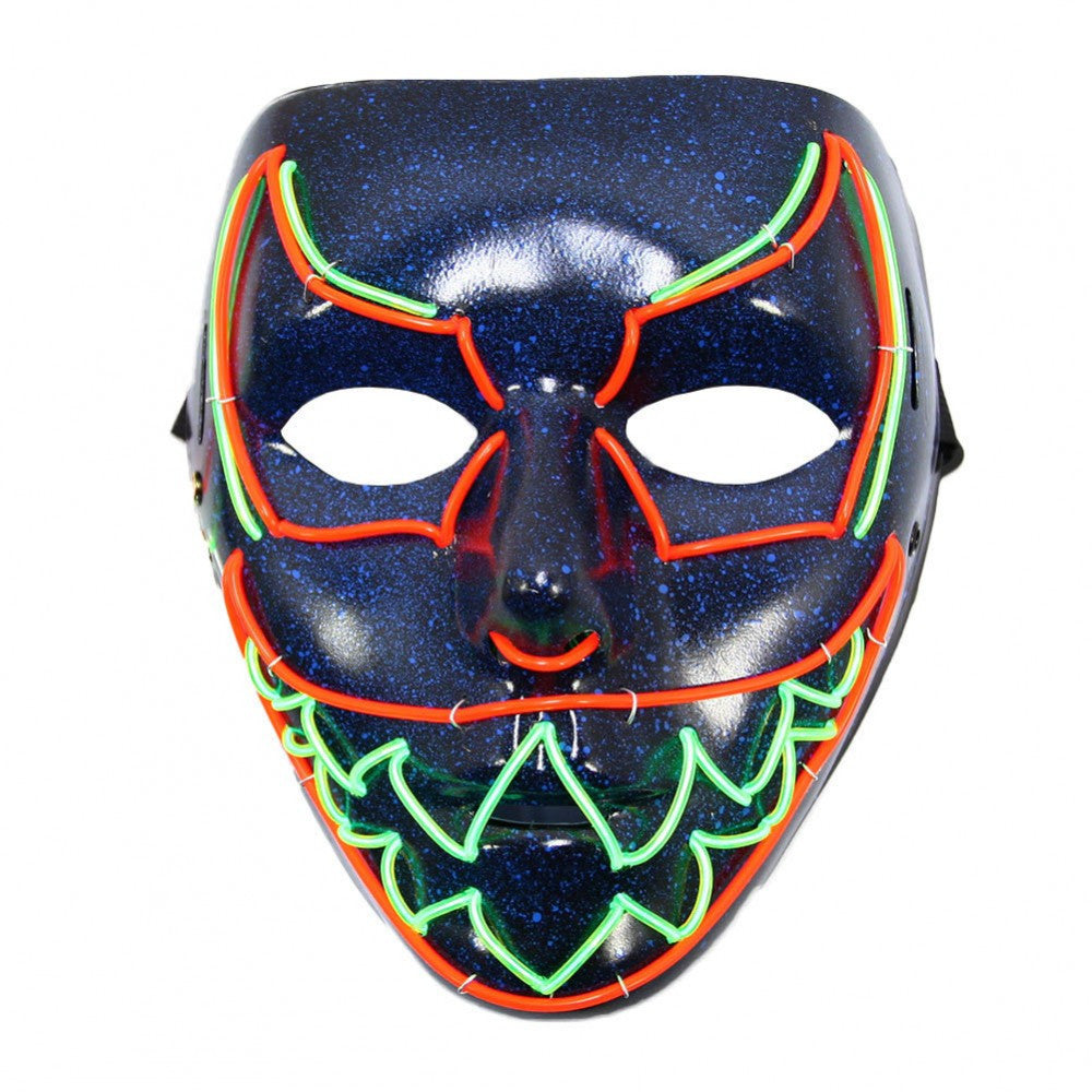 Sharp Tooth EL Wire Mask (Red/Neon Green) – Marquee Demo