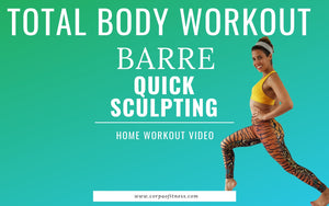 20 minute barre workout at home | total body toning