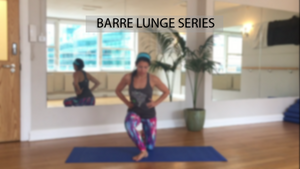 Barre Lunge Series