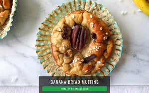 Breakfast Healthy Food | Banana Bread Muffin Recipe