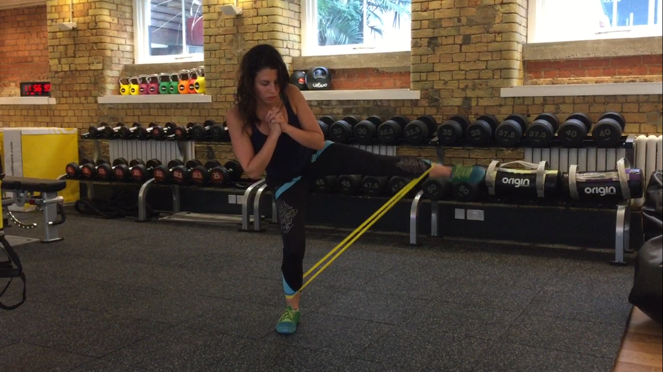 Booty and Leg Resistance Band Exercises