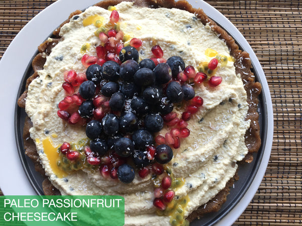 Paleo Passionfruit Cheesecake