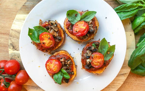 Healthy Quarantine Recipes | Sweet Potato Pizza Rounds
