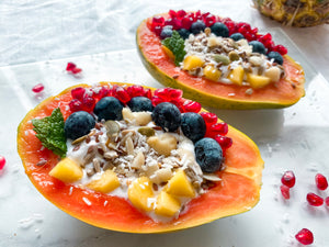 Healthy Sweet Recipes | Stuffed Papaya