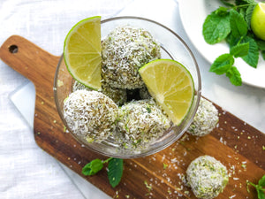 Healthy Sweet Snack for Work | Mojito Bliss Balls
