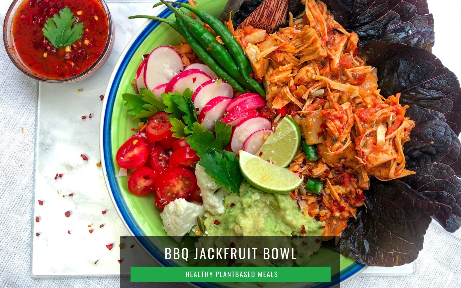 Jackfruit Vegan Recipes-Jackfruit BBQ Bowl
