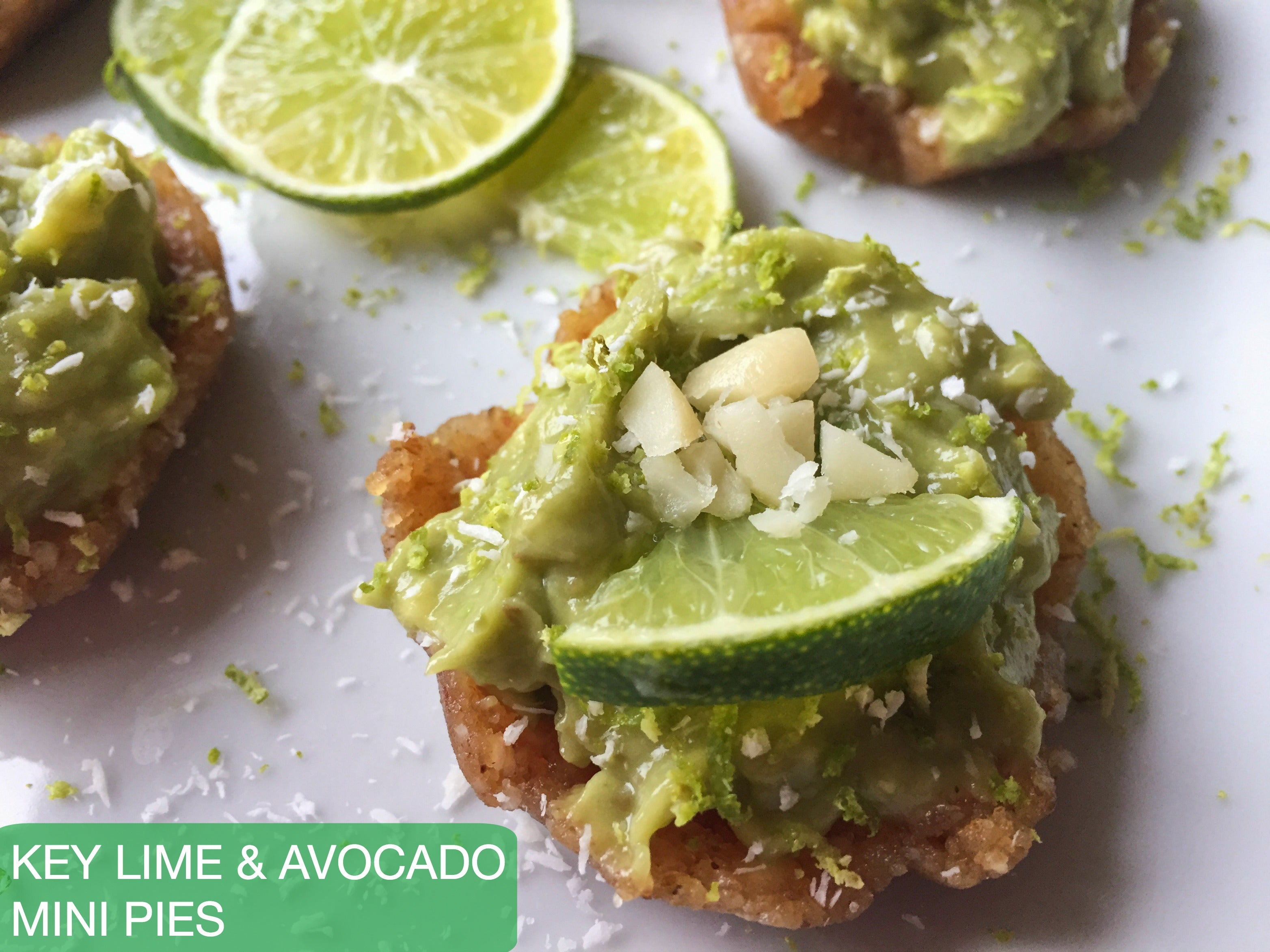 Key Lime & Avocado Mini Pies
