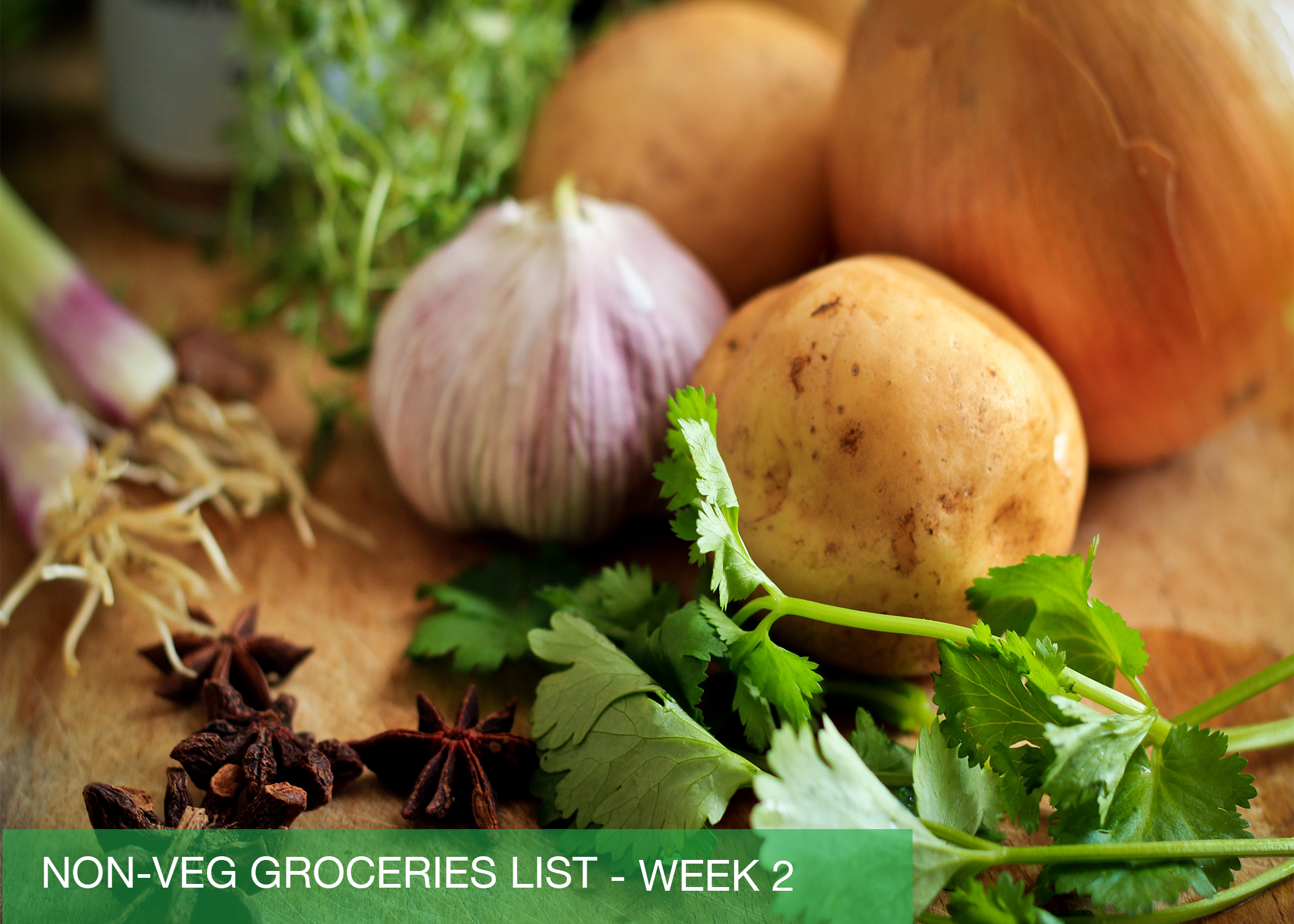 Non-Veg Groceries List - Week 2