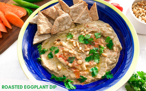 Roasted Eggplant Dip Healthy Vegan Dip Recipe