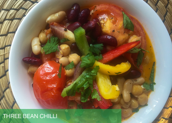 Quickie: Three Bean Vegan Chilli