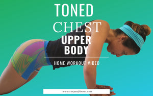 Toning chest workout for women at home, no equipment
