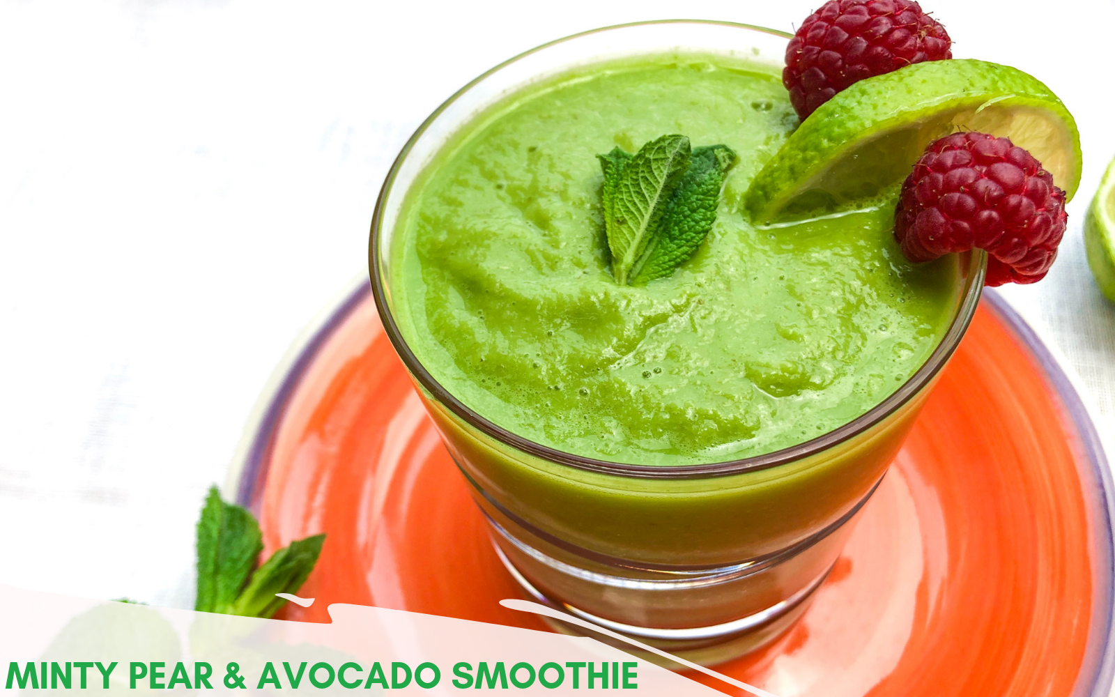 Best Vegan Green Smoothies | Minty Pear and Avocado Smoothie