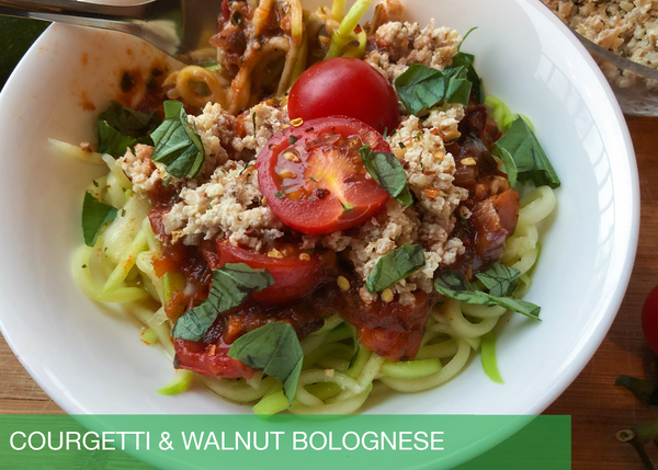 Quickie: Courgetti & Walnut Bolognese (Vegan)