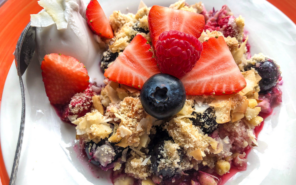 Vegan Dessert Recipes | Summer Berry Coconut Crumble