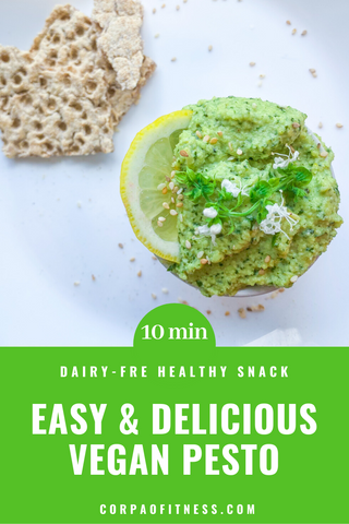 Easy Healthy Recipe | Vegan Pesto Recipe - Make this delicious dip in just 10 minutes for the perfect healthy snack whenever you want it!