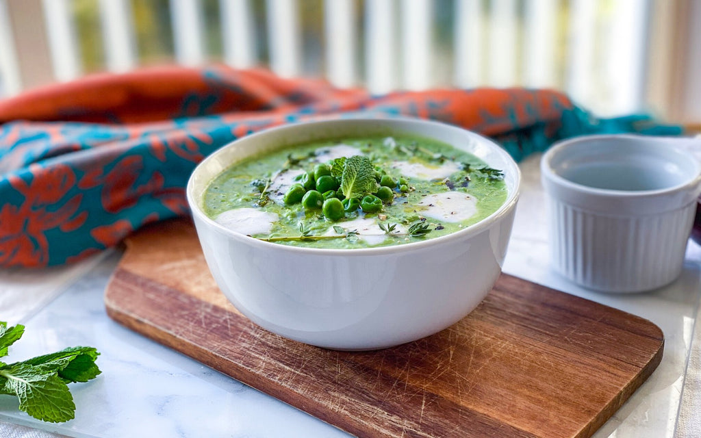Easy Healthy Soup | Minty Pea Soup Recipe