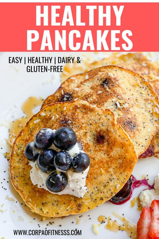Healthy Pancake Recipe | Quick Healthy Breakfast Ideas - this Polenta and Poppyseed Pancake recipe is quick and delicious!
