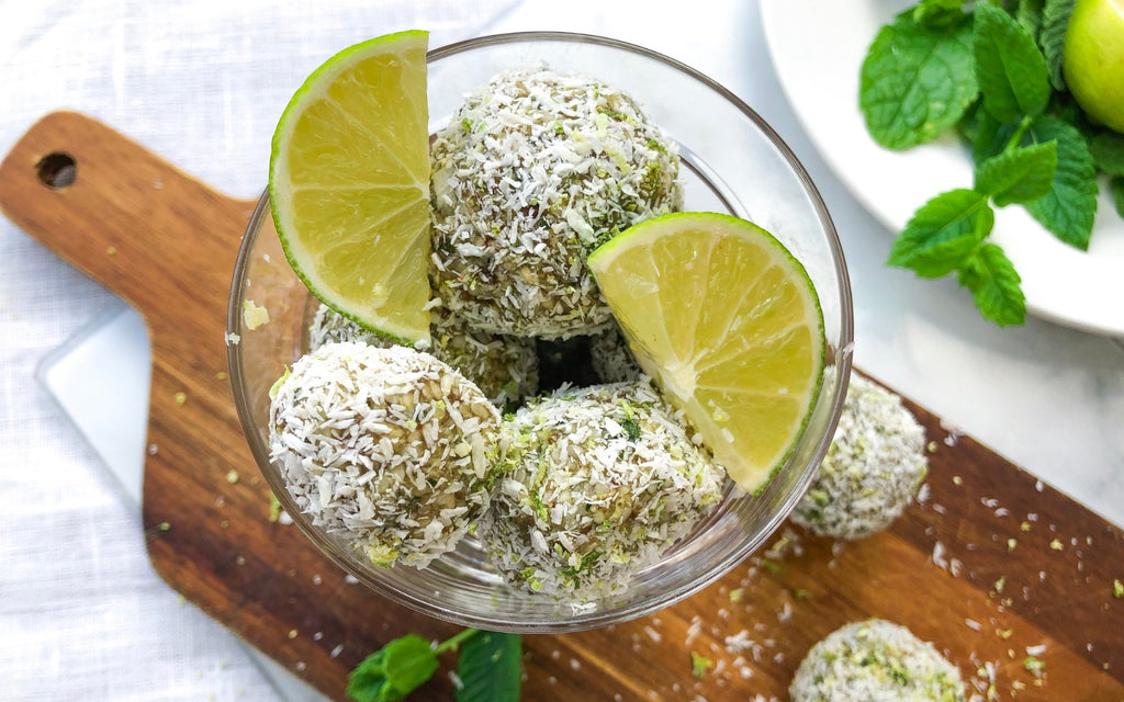 Healthy Sweet Snack for Work_Mojito Bliss Balls