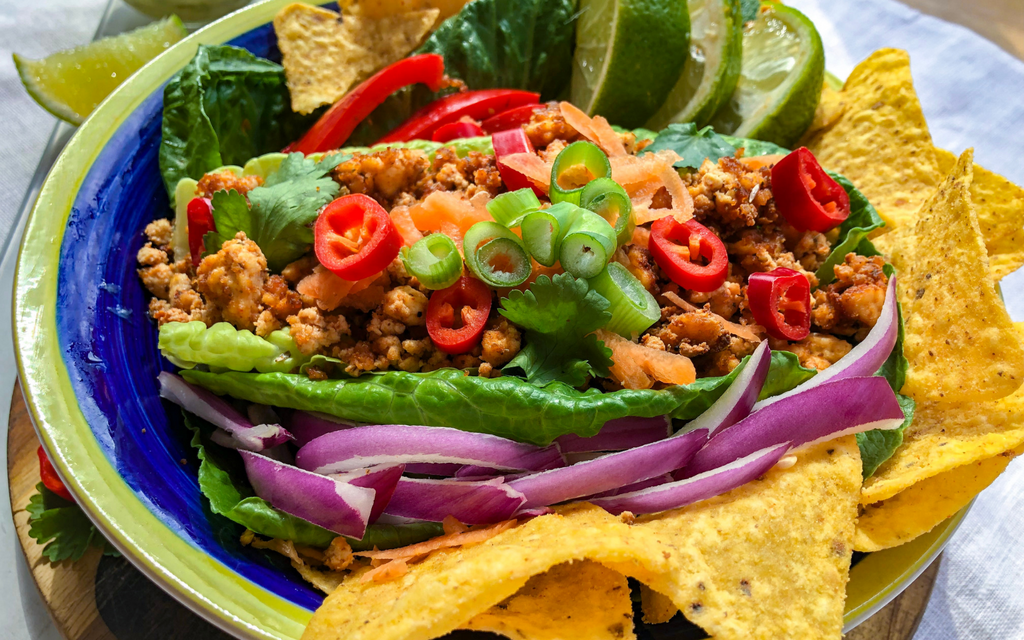 HEALTHY vegan meals: Tofu Taco Salad
