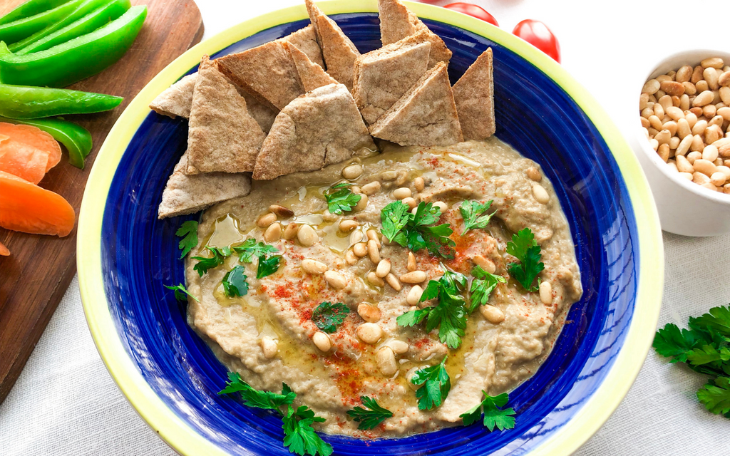 Roasted Eggplant Dip | Healthy Vegan Snack Recipes
