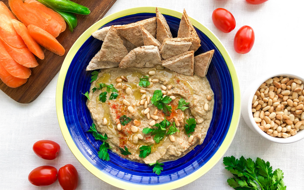 Roasted Eggplant Dip | Healthy Vegan Snack Recipes Baba Ganoush