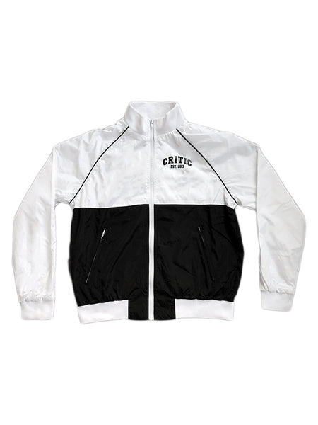 Colorblock Zip Jacket in White/Black (Quick-strike)