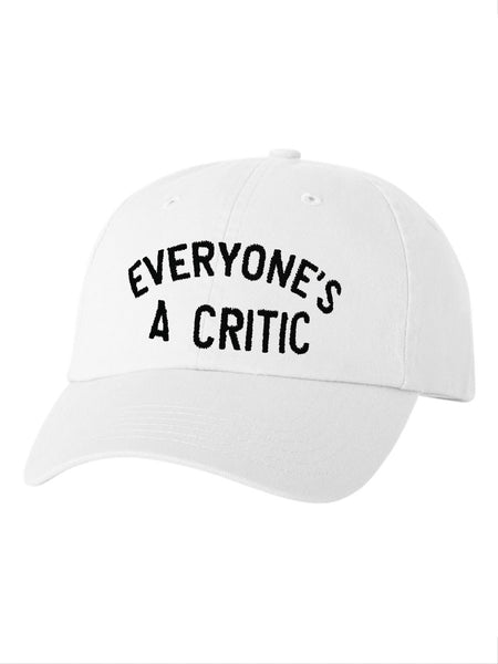 Everyone's A Critic Dad Cap in White