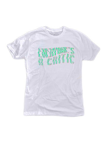 Glitch Tee in White