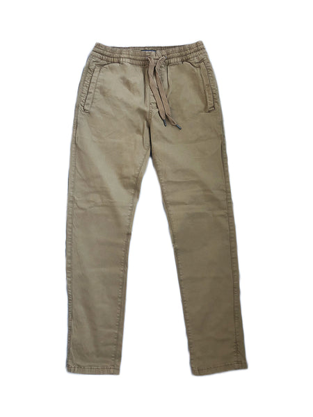 Relaxed Drawstring Pants in Khaki (Quick-strike)