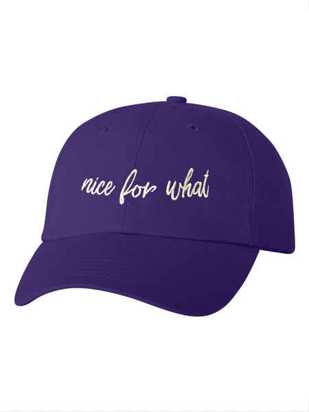 Nice For What Dad Cap in Purple