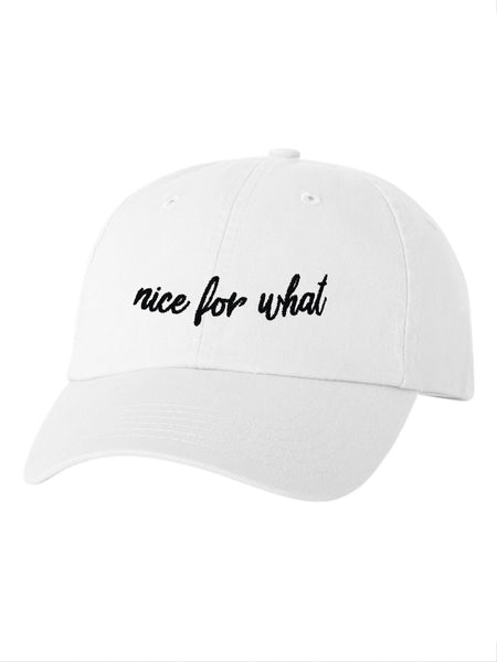 Nice For What Dad Cap in White