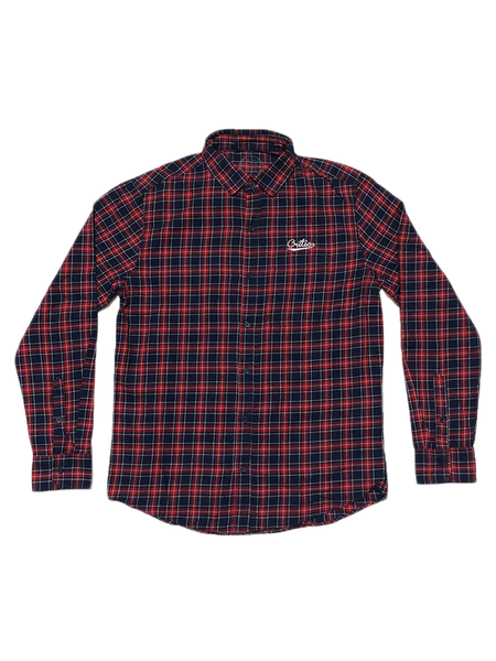 Plaid Button Down in Red/Blue