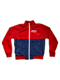 Colorblock Zip Jacket in Red/Navy (Quick-strike)