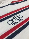 Critic NY Striped Tee in White/Red