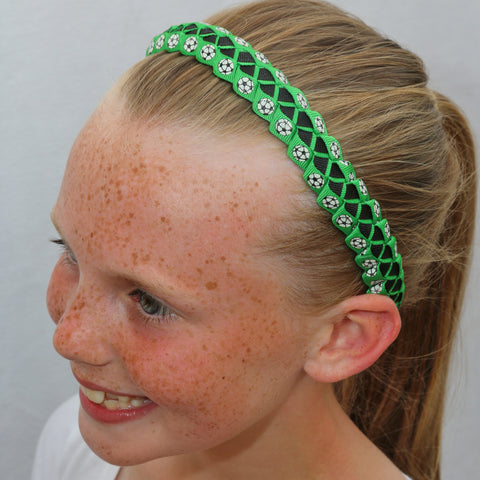 Sillies Headband VBII - Soccer Balls - Green