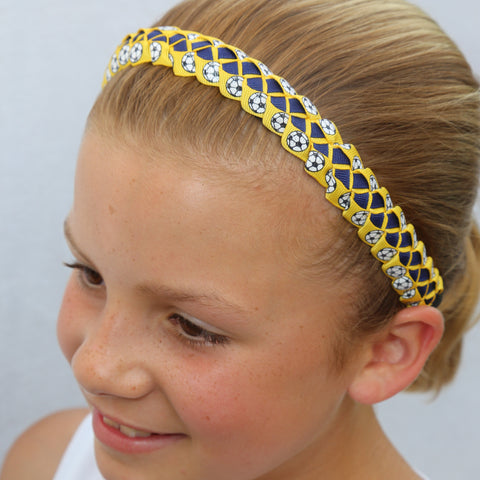 Sillies Headband VBII - Soccer Balls - Yellow