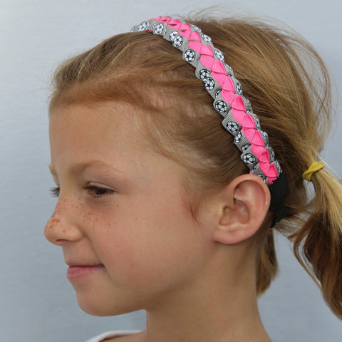 Sillies Headband VBII - Soccer Balls - Grey