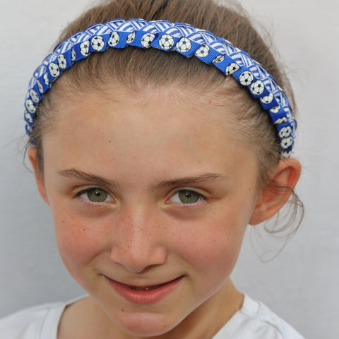 Sillies Headband VBII - Soccer Balls - Electric Blue