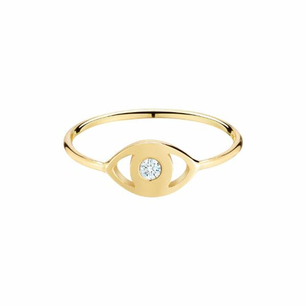 18k gold evil eye diamond pinky ring by finn by candice pool neistat