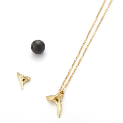 shark tooth necklace finn jewelry