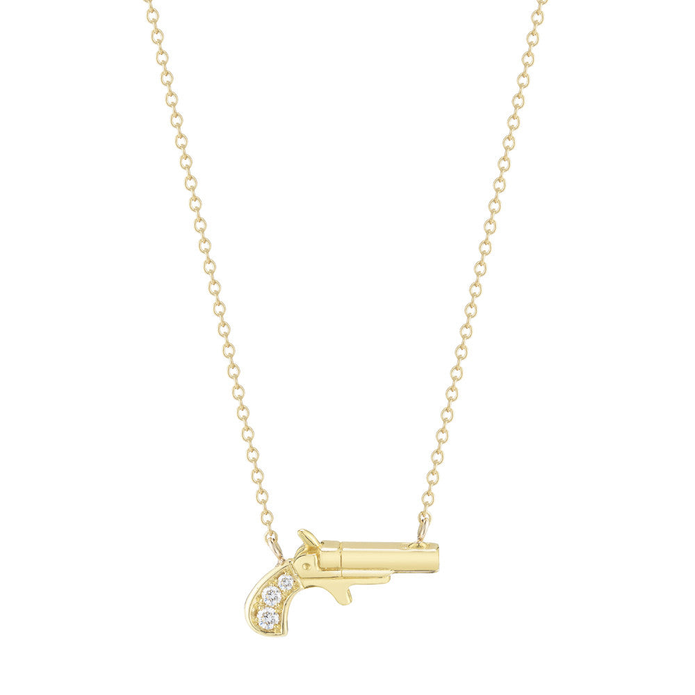 Pave Pistolet Necklace - Finn