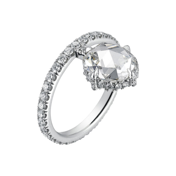 June Rose Cut Engagement Ring