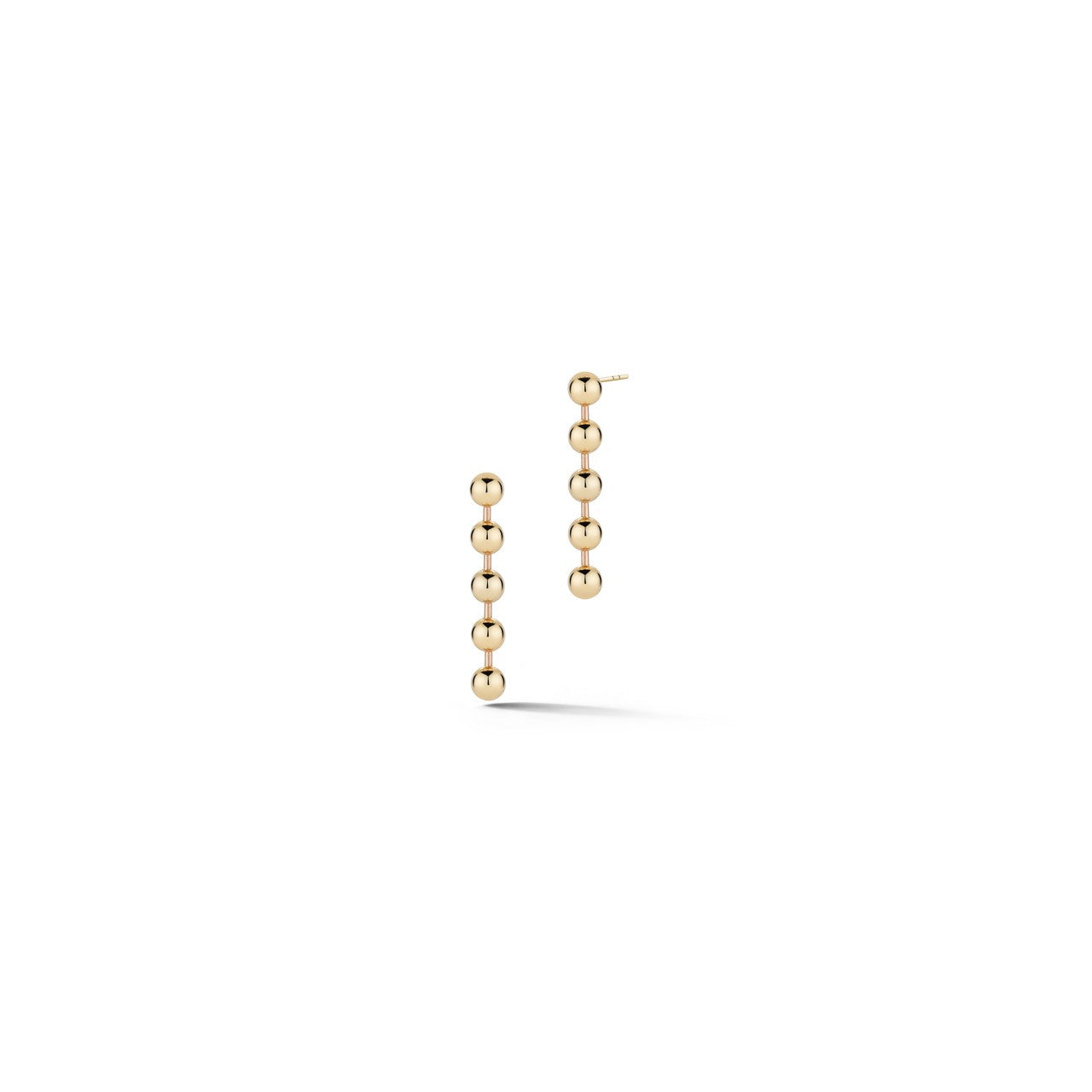 everyday short 14k yellow gold ball chain dangle earrings by finn by candice pool neistat