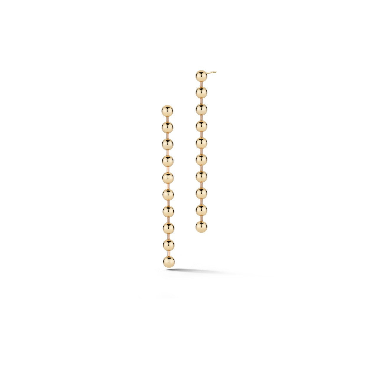light day to night ball chain earrings in 14k gold by finn by candice pool neistat