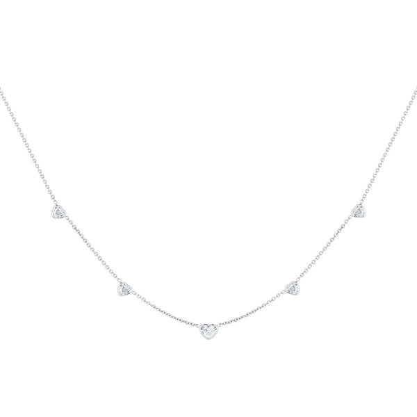 Diamond Heart Necklace - Finn