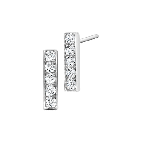 Diamond Bar Studs - Finn